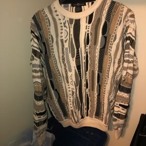 VTG Cotton Traders Coogi-Style Weave Sweater, M